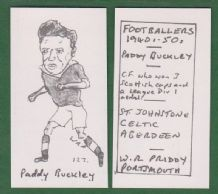 Glasgow Celtic Paddy Buckley Scotland 127